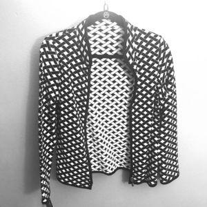 Reversible knit cardigan jacket
